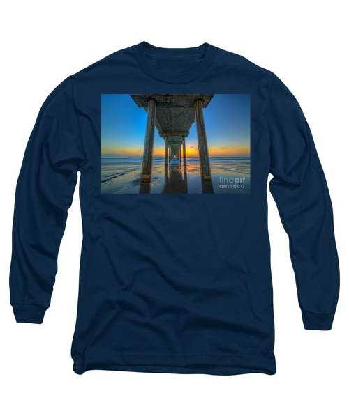 Scripps Pier Sunset Long Sleeve T-Shirt