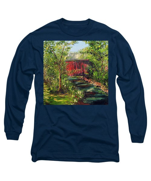 Long Sleeve T-Shirt featuring the painting Season Of Singing by Meaghan Troup