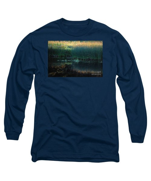 Long Sleeve T-Shirt featuring the photograph Sedges At Sunset by Cynthia Lagoudakis