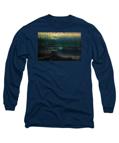 Sedges At Sunset Long Sleeve T-Shirt by Cynthia Lagoudakis