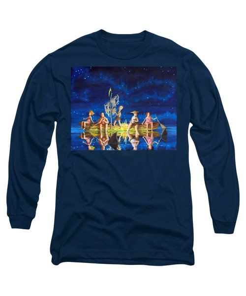 Ship Of Fools Long Sleeve T-Shirt by Matt Konar