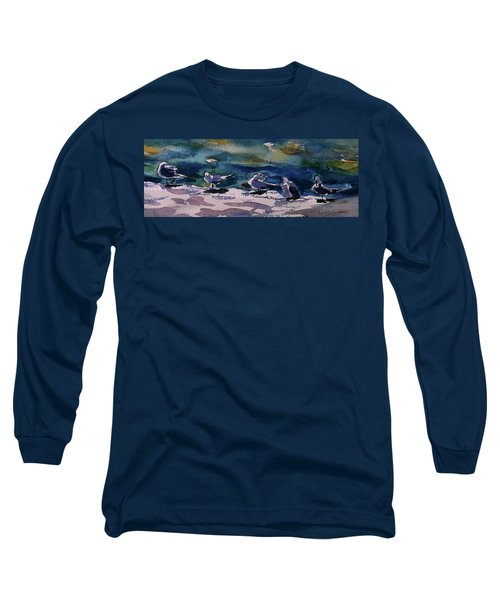 Shoreline Birds Iv Long Sleeve T-Shirt