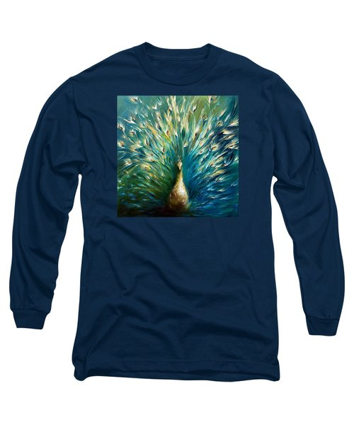 Show Off 3 White Peacock Long Sleeve T-Shirt