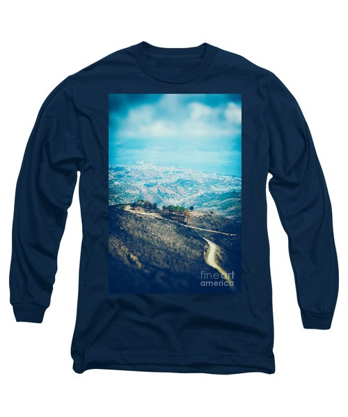 Long Sleeve T-Shirt featuring the photograph Sicilian Land After Fire by Silvia Ganora