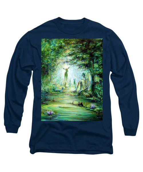 Long Sleeve T-Shirt featuring the painting Siempre Conmigo by Heather Calderon