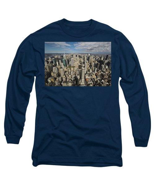 Long Sleeve T-Shirt featuring the photograph Sim City by Mihai Andritoiu