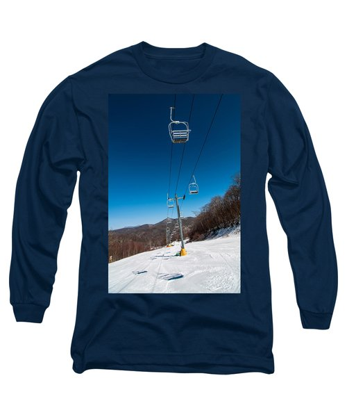 Long Sleeve T-Shirt featuring the photograph Ski Lift by Alex Grichenko
