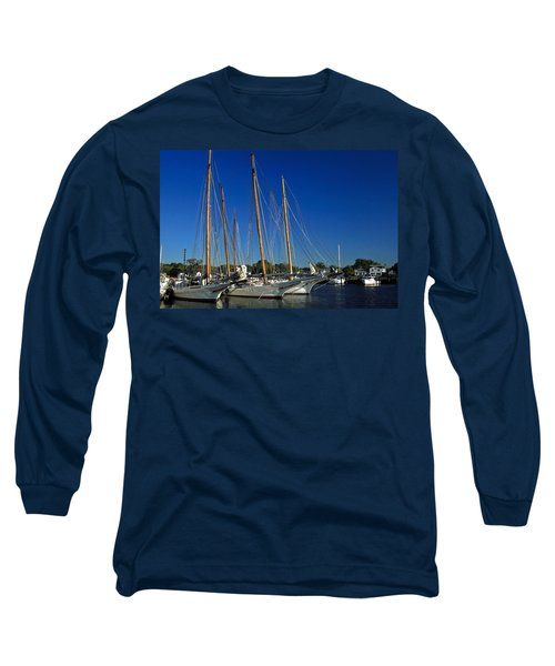 Skipjacks  Long Sleeve T-Shirt by Sally Weigand