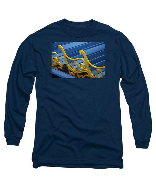 Long Sleeve T-Shirt featuring the photograph Skc 0246 The Garden Benches by Sunil Kapadia