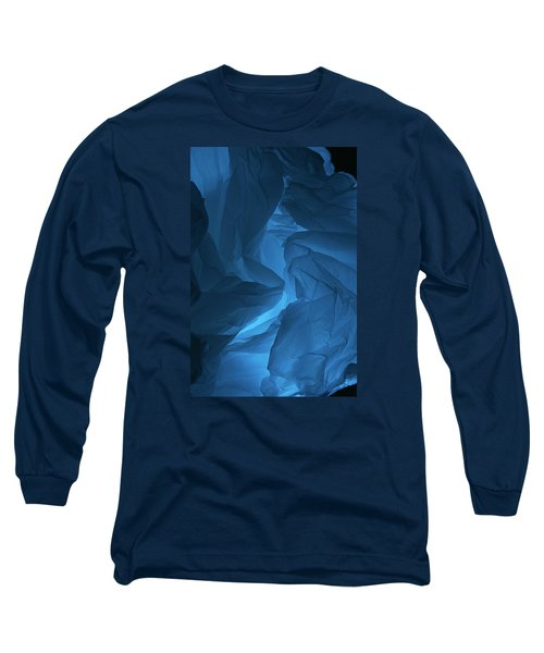 Long Sleeve T-Shirt featuring the photograph Skc 0247 A Mystery In Blue by Sunil Kapadia