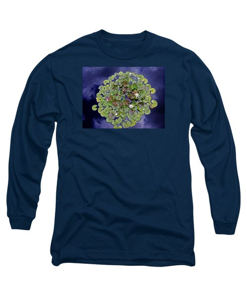 Long Sleeve T-Shirt featuring the photograph Sky Lilies by Zafer Gurel