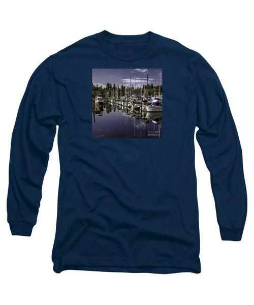 Sky Reach Long Sleeve T-Shirt by Jean OKeeffe Macro Abundance Art