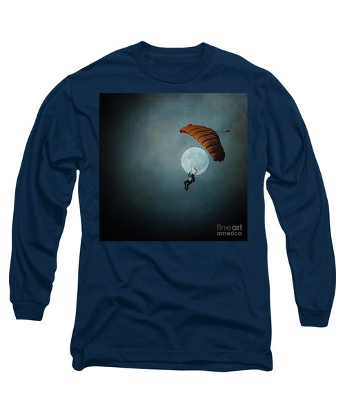 Skydiver's Moon Long Sleeve T-Shirt