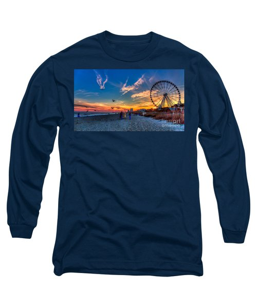 Skywheel Sunset At Myrtle Beach Long Sleeve T-Shirt