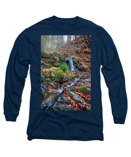 Small Fog Waterfall Long Sleeve T-Shirt