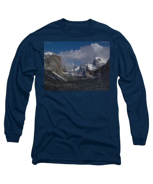 Snow Kissed Valley Long Sleeve T-Shirt by Bill Gallagher