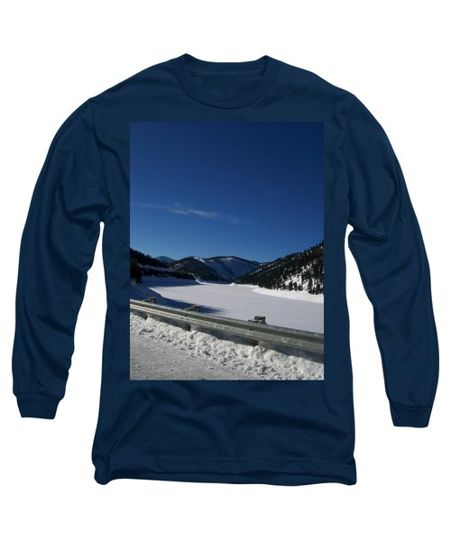 Long Sleeve T-Shirt featuring the photograph Snow Lake by Jewel Hengen