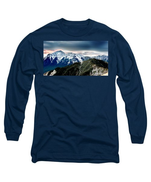 Long Sleeve T-Shirt featuring the photograph Snow Mountain by Yew Kwang