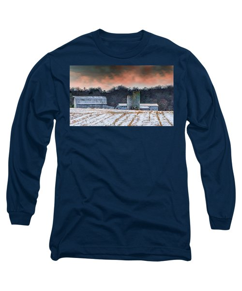 Snowy Cornfield Long Sleeve T-Shirt