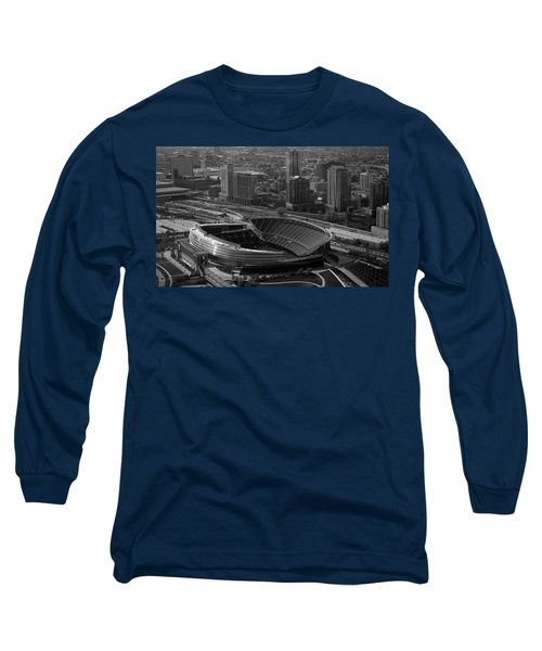 Soldier Field Chicago Sports 05 Black And White Long Sleeve T-Shirt