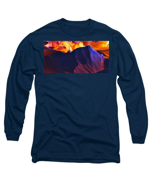 Long Sleeve T-Shirt featuring the photograph Somewhere In America Series - Antelope Canyon by Lilia D