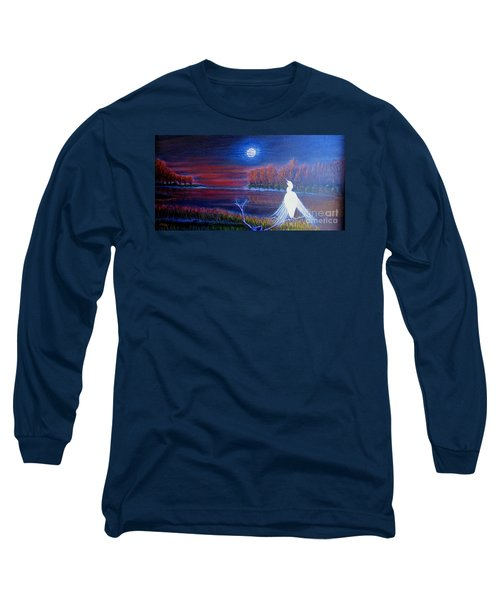 Song Of The Silent Autumn Night Long Sleeve T-Shirt by Kimberlee Baxter