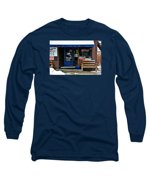 Sorry We're Open Long Sleeve T-Shirt by Mike Martin