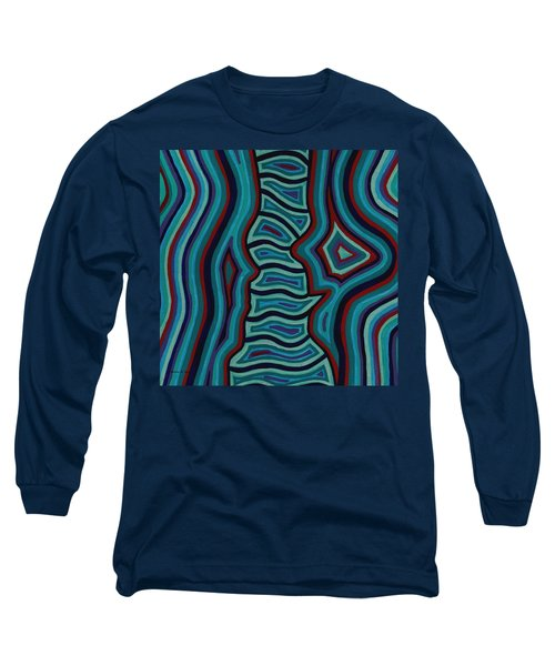 Long Sleeve T-Shirt featuring the painting Spine Talk by Barbara St Jean
