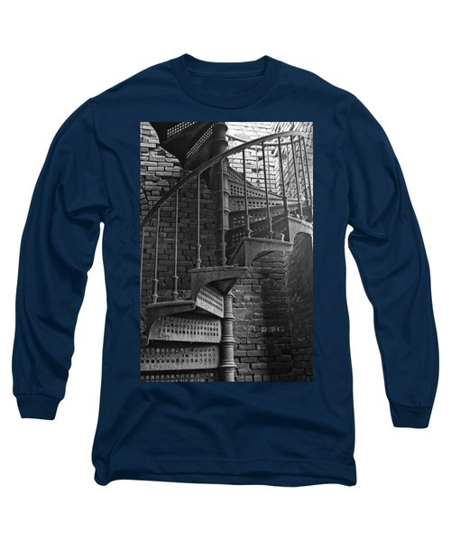 Spiral Staircase In B And W Long Sleeve T-Shirt