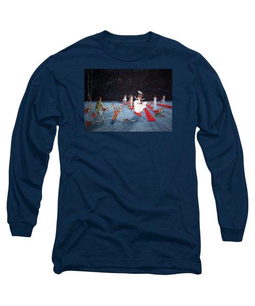 Spontaneous Gallantry Long Sleeve T-Shirt by Lazaro Hurtado