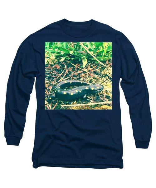 Spotted Salamander Retro Long Sleeve T-Shirt