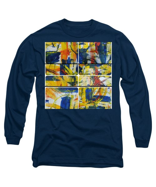 Long Sleeve T-Shirt featuring the painting Spring Part One by Sir Josef - Social Critic - ART