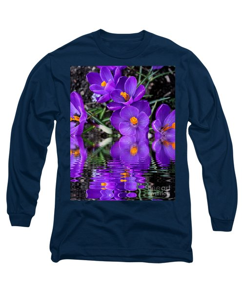 Long Sleeve T-Shirt featuring the photograph Spring Reflection by Judy Palkimas