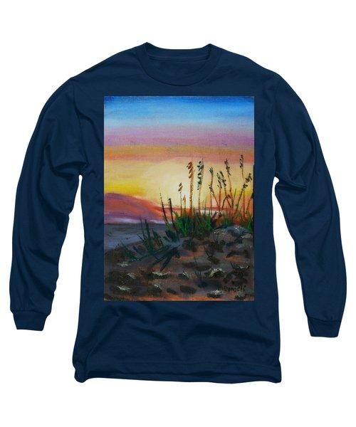 Beach At Sunrise Long Sleeve T-Shirt