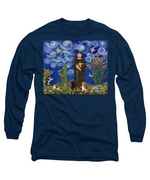 St. Francis Starry Night Long Sleeve T-Shirt
