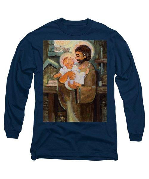 St. Joseph And Baby Jesus Long Sleeve T-Shirt