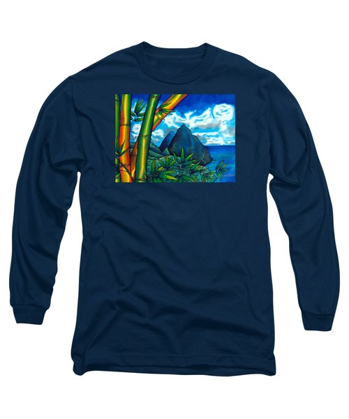 St. Lucia Pitons Long Sleeve T-Shirt
