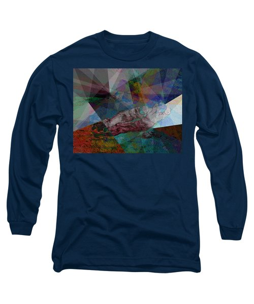 Stain Glass I Long Sleeve T-Shirt by David Bridburg
