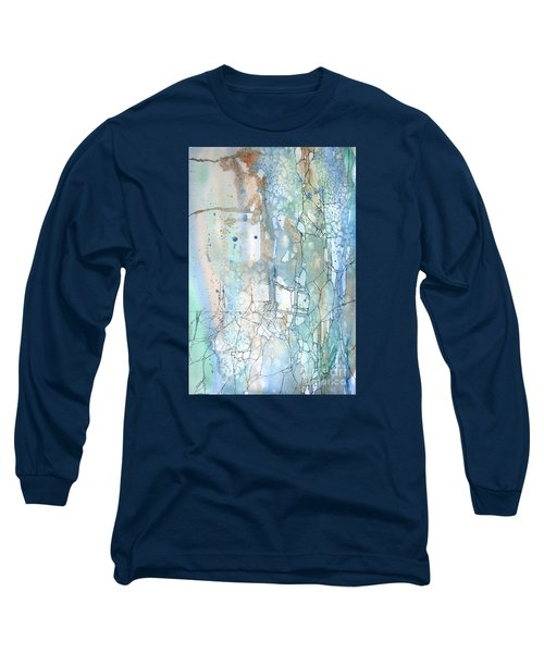Long Sleeve T-Shirt featuring the painting Stained Cracks by Rebecca Davis