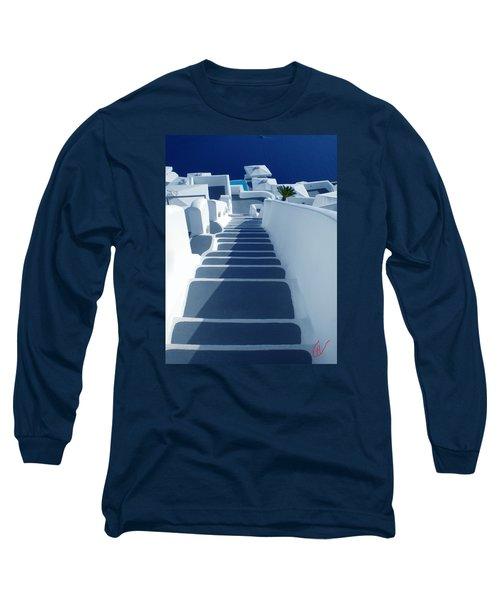 Stairs Down To Ocean Santorini Long Sleeve T-Shirt by Colette V Hera  Guggenheim