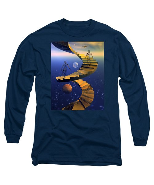 Long Sleeve T-Shirt featuring the digital art Stairway To Imagination by Claude McCoy