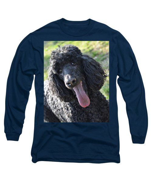 Standard Poodle Long Sleeve T-Shirt by Lisa Phillips
