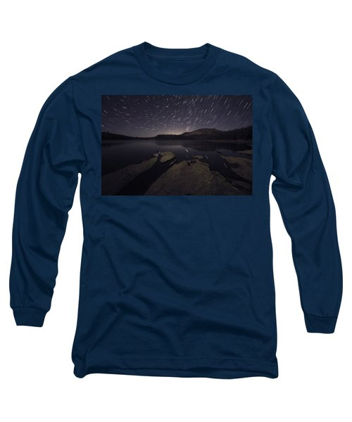 Star Trails Over Silver Lake Resort Long Sleeve T-Shirt