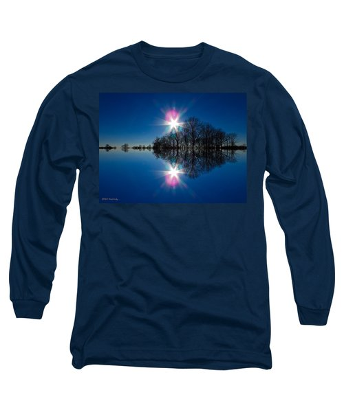 Starflection Long Sleeve T-Shirt by Nick Kirby