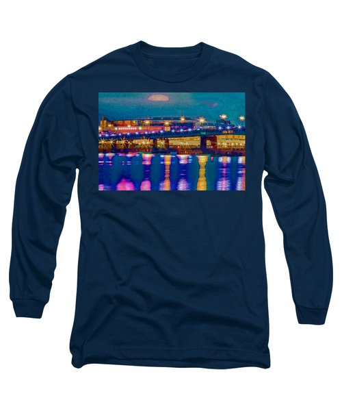 Starry Night At Nationals Park Long Sleeve T-Shirt