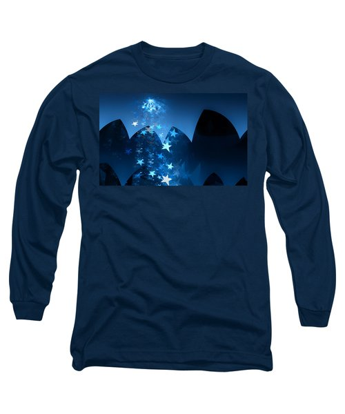 Long Sleeve T-Shirt featuring the digital art Starry Night by GJ Blackman