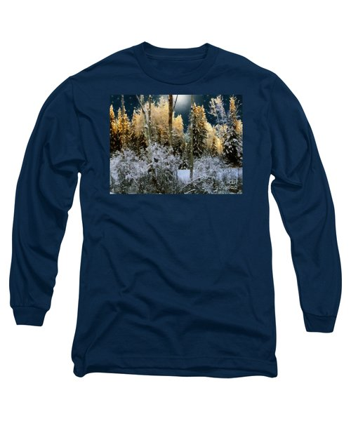 Starshine On A Snowy Wood Long Sleeve T-Shirt by RC deWinter