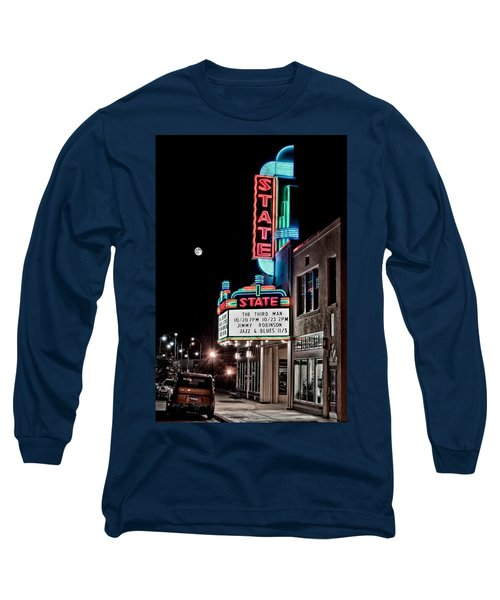State Theater Long Sleeve T-Shirt by Jim Thompson