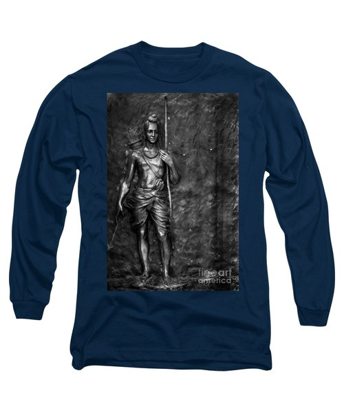 Statue Of Lord Sri Ram Long Sleeve T-Shirt