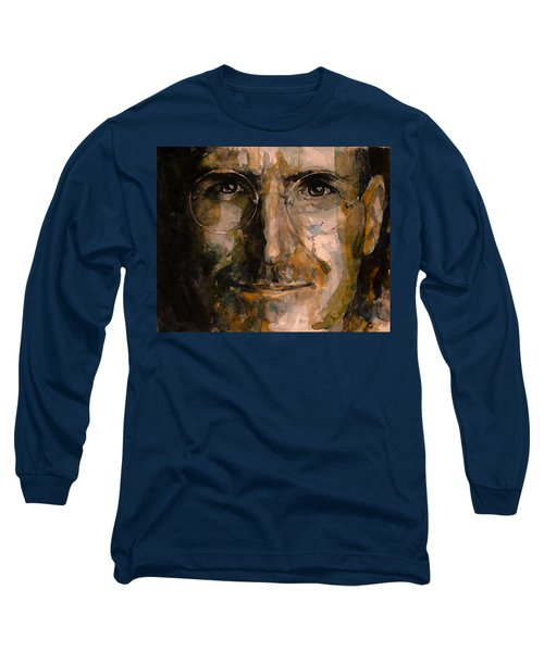 Long Sleeve T-Shirt featuring the painting Steve... by Laur Iduc